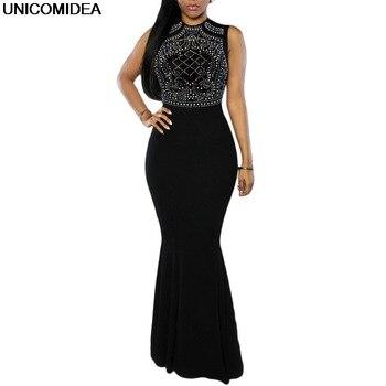 Длинное вечернее платье для женщин 2020 без рукавов с блестками облегающее платье-футляр женское длинное облегающее платье макси Vestidos