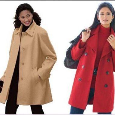 Модные модели пальто для полных женщин: фото, фасоны, материалы, с чем носить?